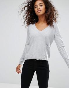 Джемпер с карманами Espirit - Серый Esprit
