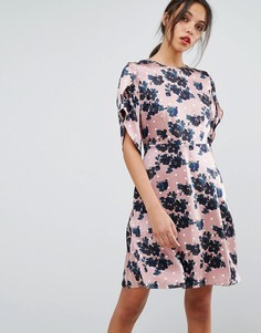Платье с короткими рукавами Essentiel Antwerp Olapola - Коричневый