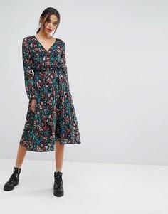 Платье с длинными рукавами Essentiel Antwerp - Красный