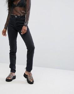 Джинсы в винтажном стиле с завышенной талией Noisy May - Черный