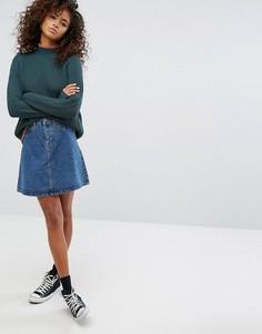 Джинсовая юбка с пуговицами Noisy May - Синий