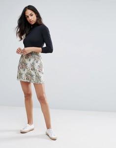 Гобеленовая юбка с цветочным рисунком Esprit - Мульти