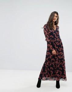 Платье макси с цветочным принтом Vero Moda - Темно-синий