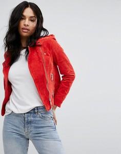 Замшевая байкерская куртка Vero Moda - Красный