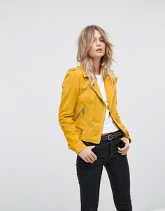 Замшевая байкерская куртка Vero Moda - Золотой