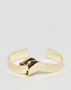 Браслет с узелком Pieces - Золотой