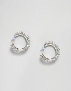 Серьги-кольца Pieces - Серебряный