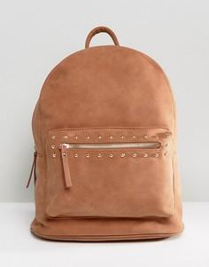 Рюкзак с заклепками Pieces - Коричневый