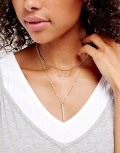 Ожерелье-чокер Pieces - Золотой