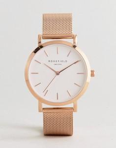 Часы с сетчатым ремешком Rosefiled Mercer - Золотой Rosefield