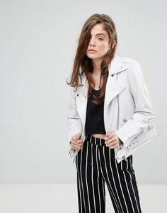 Белая кожаная куртка Gestuz Laika - Белый