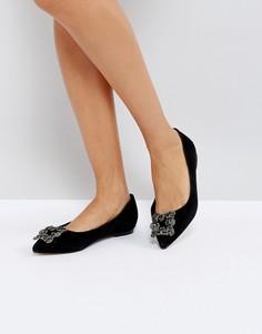 Декорированные туфли на плоской подошве Dune Briela - Черный