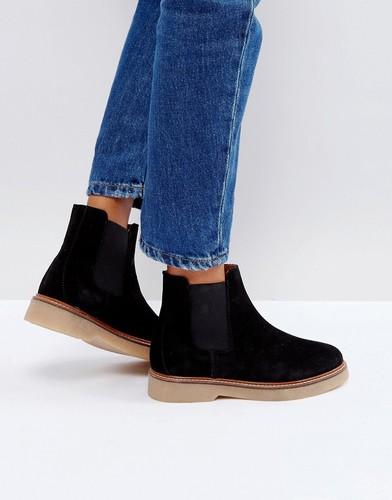 Замшевые ботинки Pieces - Черный
