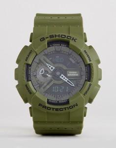 Зеленые цифровые часы на силиконовом ремешке G-Shock GA-110LP-3AER - Зеленый