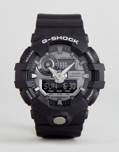 Черные цифровые часы на силиконовом ремешке G-Shock GA-710-1AER - Черный