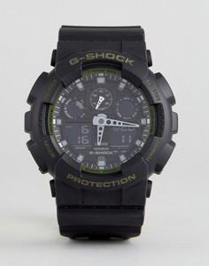 Черные часы на силиконовом ремешке G-Shock GA-100L-1AER - Черный