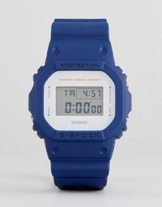 Синие цифровые часы с силиконовым ремешком G-Shock DW-5600M-2ER - Синий