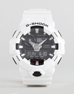 Белые цифровые часы на силиконовом ремешке G-Shock GA-700-7AER - Белый