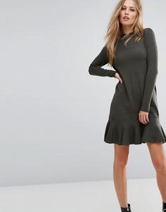Платье с оборкой на подоле Y.A.S - Зеленый