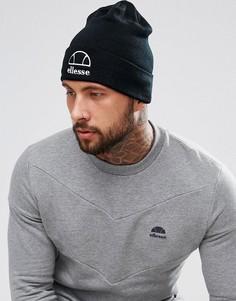 Черная шапка-бини с крупным логотипом Ellesse - Черный