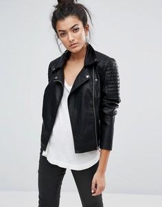 Куртка из искусственной кожи Noisy May - Черный