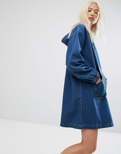 Платье с капюшоном Noisy May - Синий