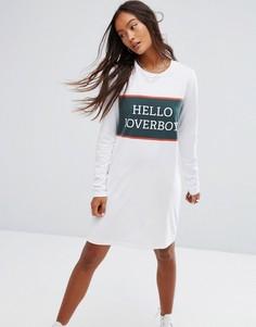 Трикотажное платье с длинными рукавами Noisy May - Белый