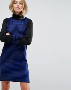 Вязаное платье мини в полоску ASOS - Синий