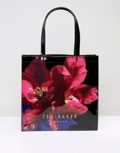 Большая сумка с цветочным принтом Ted Baker - Черный