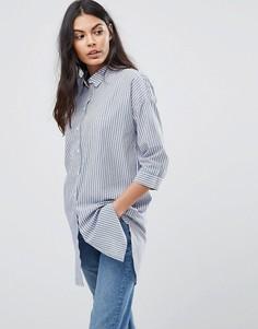Длинная оверсайз-рубашка JDY - Синий