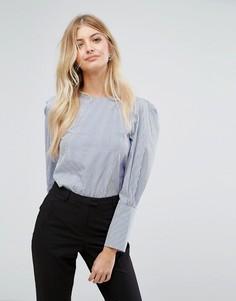 Блузка в тонкую полоску New Look - Синий