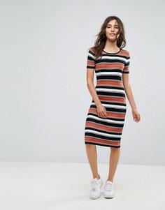 Платье в полоску Oeuvre - Красный