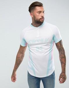 Обтягивающая футболка в стиле ретро SikSilk - Белый