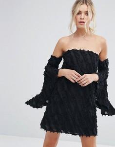 Платье с расклешенными рукавами C/Meo Collective Recollection - Черный