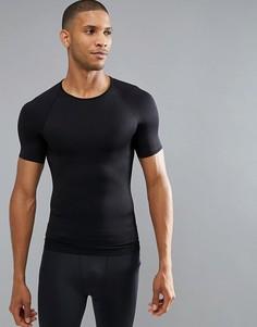 Черная обтягивающая футболка Spanx Performance - Черный