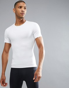 Белая обтягивающая футболка Spanx Performance - Белый