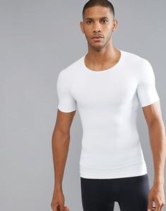 Белая компрессионная футболка из хлопка Spanx - Белый