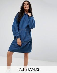 Джинсовое платье с капюшоном Noisy May Tall - Синий