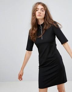 Платье с молнией Weekday - Черный