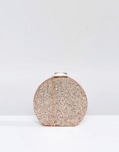 Блестящий круглый клатч Chi Chi London - Золотой