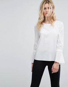 Блузка с рукавами клеш Selected - Белый