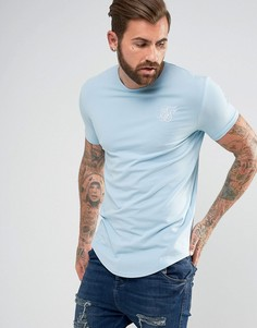 Обтягивающая футболка с логотипом SikSilk - Синий