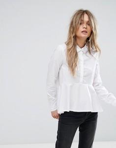 Рубашка асимметричной длины Noisy May Kyra - Белый