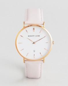 Часы с кожаным ремешком Abbott Lyon Kensington 40 - Розовый
