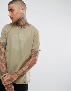 Зеленая футболка с логотипом Pretty Green - Зеленый