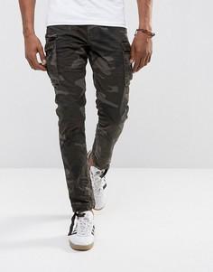 Камуфляжные брюки-карго слим Jack & Jones Intelligence - Зеленый