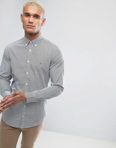 Синяя рубашка узкого кроя в полоску с воротником на пуговицах Tommy Hilfiger Lexington - Синий