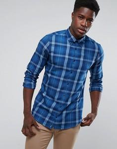 Синяя облегающая рубашка в клетку Tommy Hilfiger Einston - Синий