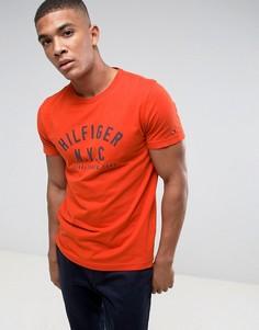 Красная футболка с логотипом Tommy Hilfiger Chase - Красный