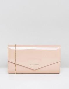 Лакированный клатч-конверт Lipsy - Розовый
